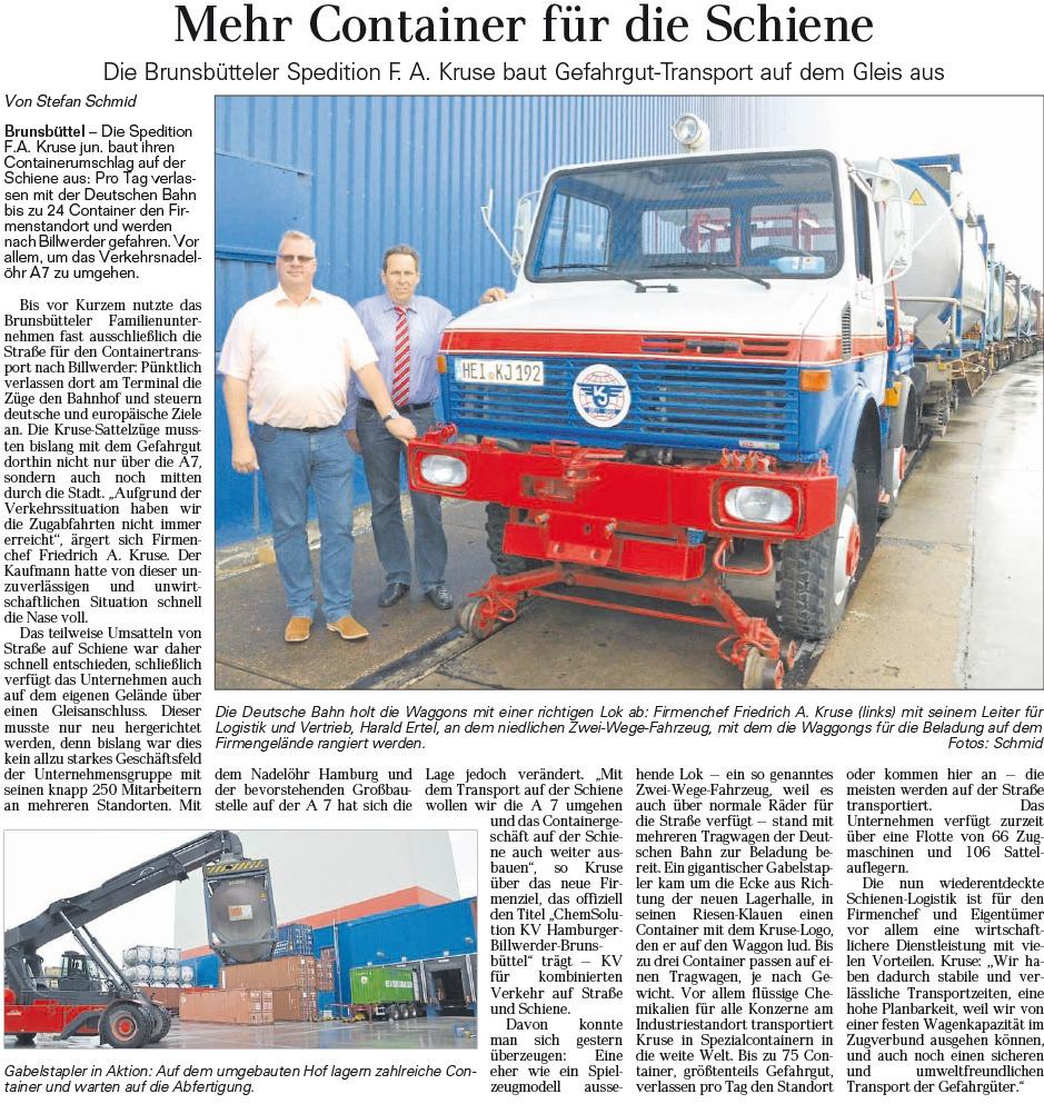 Artikel Containerumschlag Gefahrengut-Transport