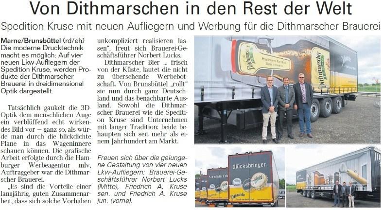 Artikel Werbung Dithmarscher Brauerei